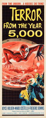 "Terror from the Year 5000 (American International, 1958). Insert (14"" X 36""). Science Fiction"