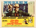"Movie Posters:Western, The Man Who Shot Liberty Valance (Paramount, 1962). Half Sheet (22"" X 28"").. ..."