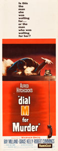 "Movie Posters:Hitchcock, Dial M for Murder (Warner Brothers, 1954). Insert (14"" X 36"").. ..."