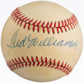 Autographs:Bats, Ted Williams Single Signed Baseball....