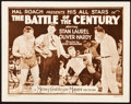"Movie Posters:Comedy, The Battle of the Century (MGM, 1927). Title Lobby Card (11"" X14"").. ..."