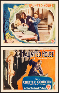 """The Haunted House (First National, 1928). Title Card and Lobby Card (11"""" X 14""""). ... (Total: 2 Items)"""