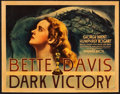 "Movie Posters:Drama, Dark Victory (Warner Brothers, 1939). Title Lobby Card (11"" X14"").. ..."