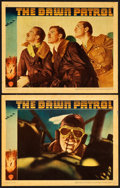 "Movie Posters:War, The Dawn Patrol (Warner Brothers, 1938). Linen Finish Lobby Cards (2) (11"" X 14"").. ... (Total: 2 Items)"