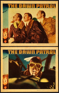 """The Dawn Patrol (Warner Brothers, 1938). Linen Finish Lobby Cards (2) (11"""" X 14""""). ... (Total: 2 Items)"""
