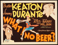 "Movie Posters:Comedy, What! No Beer? (MGM, 1933). Title Lobby Card (11"" X 14"").. ..."