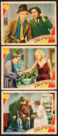 "Movie Posters:Comedy, A Day at the Races (MGM, 1937). Lobby Cards (3) (11"" X 14"").. ...(Total: 3 Item)"