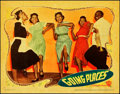 "Movie Posters:Comedy, Going Places (Warner Brothers, 1938). Linen Finish Lobby Card (11""X 14"").. ..."