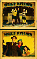 "Movie Posters:Crime, Hell's Kitchen (Warner Brothers, 1939). Linen Finish Lobby Cards(2) (11"" X 14"").. ... (Total: 2 Items)"