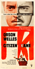 "Movie Posters:Drama, Citizen Kane (RKO, R-1956). Three Sheet (41"" X 79.5"").. ..."