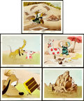 "Movie Posters:Animation, Donald Duck and Pluto in Beach Picnic (RKO, 1939). Color GlosPhotos (5) (8"" X 10""). Animation.. ... (Total: 5 Items)"