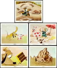 """Donald Duck and Pluto in Beach Picnic (RKO, 1939). Color Glos Photos (5) (8"""" X 10""""). Animation. ... (Total: 5..."""