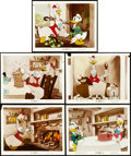"Movie Posters:Animation, Donald's Cousin Gus (RKO, 1939). Color Glos Photos (5) (8"" X 10"").. ... (Total: 5 Items)"