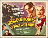 """Sherlock Holmes and the Voice of Terror (Universal, 1942). Title Lobby Card (11"""" X 14"""")"""