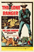 "Movie Posters:Western, The Lone Ranger and the Lost City of Gold (United Artists, 1958).One Sheet (27"" X 41"").. ..."