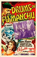 """Movie Posters:Serial, Drums of Fu Manchu (Republic, 1940). One Sheet (27"""" X 41"""") Chapter7 -- """"Vengeance of Si Fan."""". ..."""