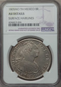 Mexico, Mexico: Charles IV 8 Reales 1805 Mo-TH AU Details (SurfaceHairlines) NGC,...