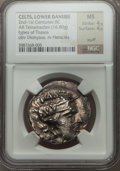 Ancients:Celtic, Ancients: DANUBE REGION. Imitating Thasos. Ca. 2nd-1st centuriesBC. AR tetradrachm (16.80)....
