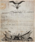 Autographs:U.S. Presidents, Thomas Jefferson Signed Military Appointment....