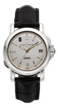 "Timepieces:Wristwatch, Ulysse Nardin Ref. 209-20 Platinum ""San Marco GMT"" Limited Edition No. 6/50. ..."