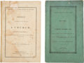 Books:Pamphlets & Tracts, [Slavery]. Two Pro-Slavery Tracts Published in South Carolina. ...(Total: 2 Items)