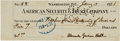 Autographs:Inventors, Alexander Graham Bell Check Signed....