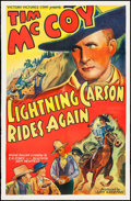 """Movie Posters:Western, Lightning Carson Rides Again (Victory, 1938). One Sheet (27"""" X41""""). Western.. ..."""