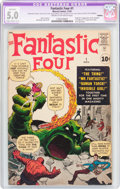 Silver Age (1956-1969):Superhero, Fantastic Four #1 Trimmed (Marvel, 1961) CGC Apparent VG/FN 5.0Slight to Moderate (C-2) Cream to off-white pages....