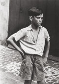 Photographs, Roger Mayne (British, 1929-2014). Keith, Addison Place, 1957. Gelatin silver. 14-1/2 x 10-1/2 inches (36.8 x 26.7 cm). S...