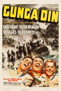 "Movie Posters:Action, Gunga Din (RKO, 1939). One Sheet (27.5"" X 41"") Style A.. ..."
