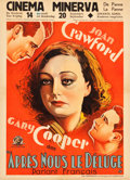 """Movie Posters:Romance, Today We Live (MGM, 1933). Pre-War Belgian (24"""" X 33"""").. ..."""