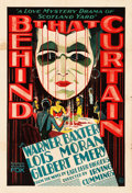 "Movie Posters:Mystery, Behind That Curtain (Fox, 1929). One Sheet (27"" X 41"").. ..."