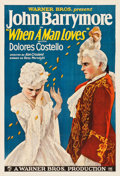 "Movie Posters:Romance, When a Man Loves (Warner Brothers, 1927). One Sheet (28"" X 41"")Style B.. ..."