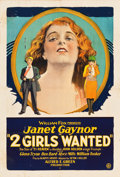 "Movie Posters:Comedy, Two Girls Wanted (Fox, 1927). One Sheet (28"" X 41"").. ..."