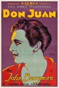 "Movie Posters:Adventure, Don Juan (Warner Brothers, 1926). Argentinean Poster (29"" X 43"")....."