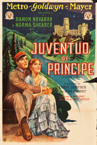 "The Student Prince in Old Heidelberg (MGM, 1927). Argentinean Poster (29"" X 43"") A. Wagener Artwork"