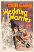 """Movie Posters:Comedy, Our Gang in Wedding Worries (MGM, 1941). One Sheet (27"""" X 41"""")....."""