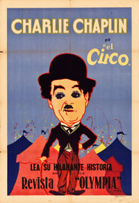 """The Circus (United Artists, 1928). Argentinean Poster (29"""" X 43"""") Hap Hadley Artwork"""