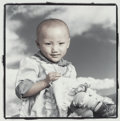 Photographs:Gelatin Silver, Phil Borges (American, b. 1942). Samdi, Lhasa, Tibet, 1994. Gelatin silver, masked, bleached, and toned. 9-1/4 x 9 inche...