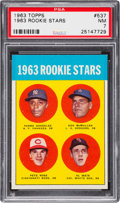 Baseball Cards:Singles (1960-1969), 1963 Topps Pete Rose - 1963 Rookie Stars #537 PSA NM 7....