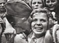 Photographs, Georgy Petrusov (Russian, 1903-1971). The Joy, 1945. Gelatin silver. 11-1/2 x 15-3/4 inches (29.2 x 40 cm). Signed in pe...