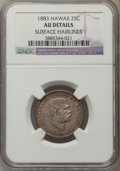 Coins of Hawaii , 1883 25C Hawaii Quarter -- Surface Hairlines -- NGC Details. AU.NGC Census: (30/1123). PCGS Population (89/1553). Mintage:...