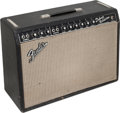 Musical Instruments:Amplifiers, PA, & Effects, 1967 Fender Deluxe Reverb Black Guitar Amplifier, Serial # A22566....