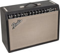 Musical Instruments:Amplifiers, PA, & Effects, 1965 Fender Deluxe Reverb Black Guitar Amplifier, Serial #A07737....