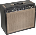 Musical Instruments:Amplifiers, PA, & Effects, 1964 Fender Princeton Reverb Black Guitar Amplifier, Serial #A00460....