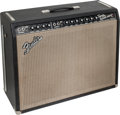 Musical Instruments:Amplifiers, PA, & Effects, 1967 Fender Twin Reverb Black Guitar Amplifier, Serial # A08732....