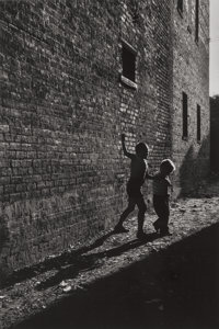 David Martin Heath (American, b. 1931) Chicago (two boys in an alleyway), 1955-56 Gelatin silver, pr