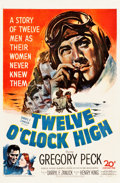 "Movie Posters:War, Twelve O'Clock High (20th Century Fox, 1949). One Sheet (27"" X 41"").. ..."