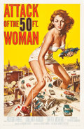 "Movie Posters:Science Fiction, Attack of the 50 Foot Woman (Allied Artists, 1958). One Sheet (27"" X 41"").. ..."