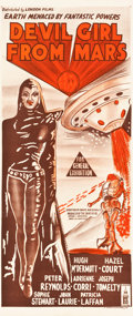 "Movie Posters:Science Fiction, Devil Girl from Mars (London Films, 1955). Australian Daybill(12.5"" X 30"").. ..."